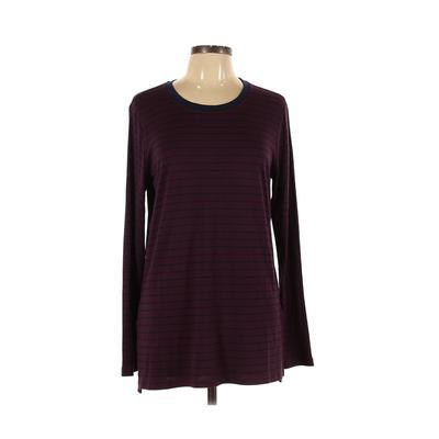 Workshop Republic Clothing - Workshop Republic Clothing Long Sleeve T-Shirt: Purple Print Tops - Size Large
