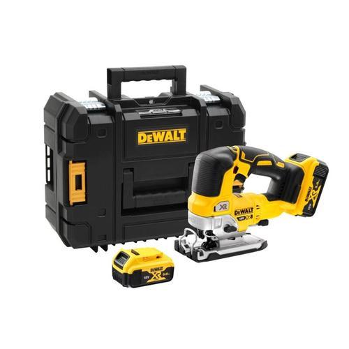 DEWALT 18V XR 5Ah Stichsäge + 2 Batterien + Ladegerät - DCS334P2