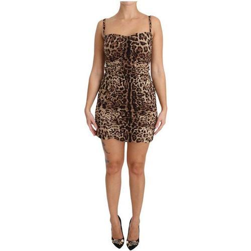 Dolce & Gabbana Bodycon-Kleid aus Leoparden-Seidenscheide