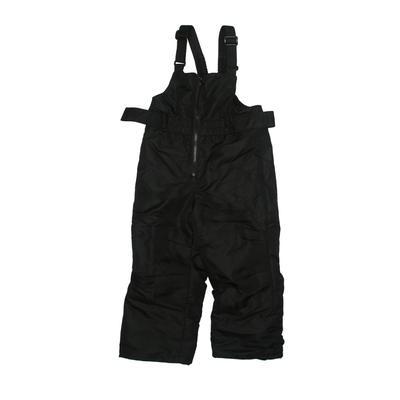 Cat & Jack Snow Pants With Bib - Adjustable: Black Sporting & Activewear - Size 3Toddler