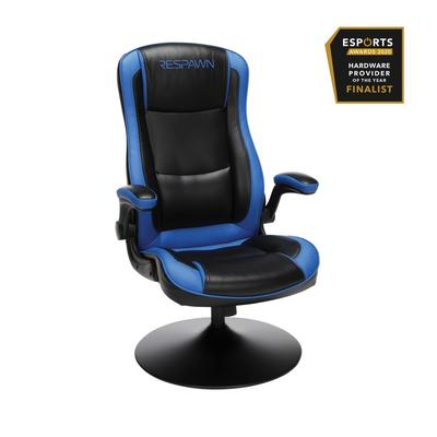 RESPAWN-800 Racing Style Gaming Rocker Chair in Rocking Gaming Chair in Blue - OFM RSP-800-BLK-BLU