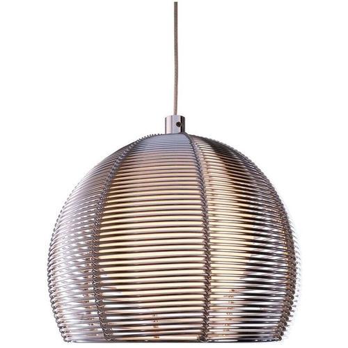 Ausgefallene Pendelleuchte Filo Ball aus Metall in Silber