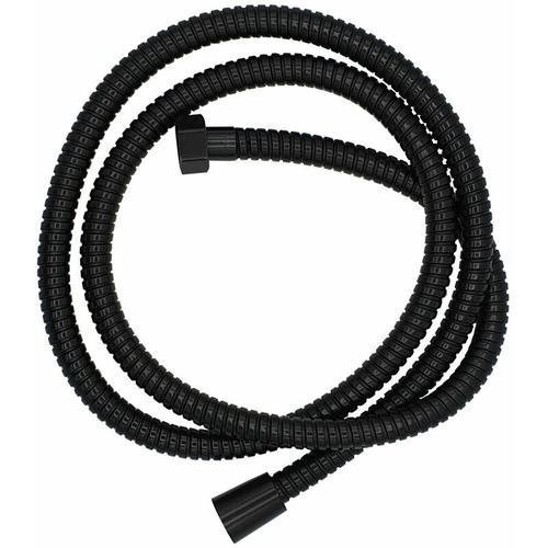 Pepte - Schwarzer Metallschlauch 150cm Duschschlauch Flexibler Badezimmerschlauch