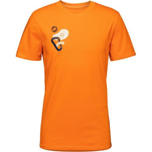 Mammut Massone T-Shirt Herren in dark cheddar prt1, Größe L