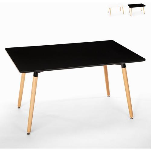 Rechteckiger Esstisch 120x80 Wooden Design Holz Corn   Farbe: Schwarz