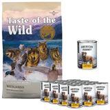 Taste of the Wild Wetlands Grain-Free Dry Food + American Journey Chicken & Turkey Recipe Grain-Free Canned Dog Food