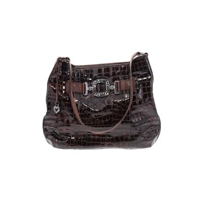 Brighton - Brighton Leather Shoulder Bag: Brown Solid Bags