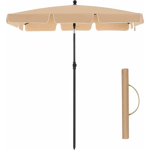 Sonnenschirm für Balkon, rechteckiger Gartenschirm, 180 x 125 cm, UV-Schutz bis UPF 50+, knickbar,