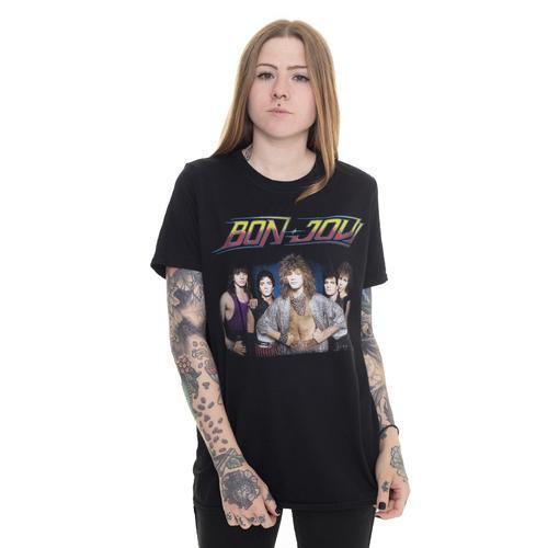 Bon Jovi - Tour '84 (Backprint) - - T-Shirts