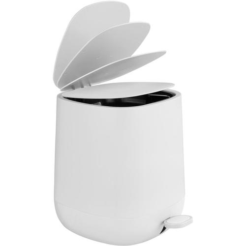 Mülleimer 5L Abfalleimer Treteimer Kosmetik Müll Eimer Soft Close Davos Weiß