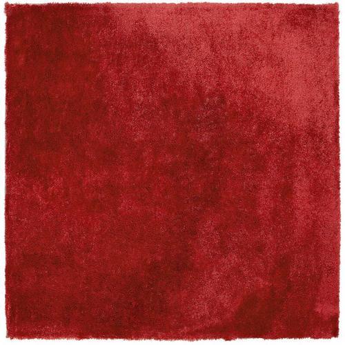 Teppich Rot 200 x 200 cm Shaggy in quadratischer Form Getuftet Klassisch