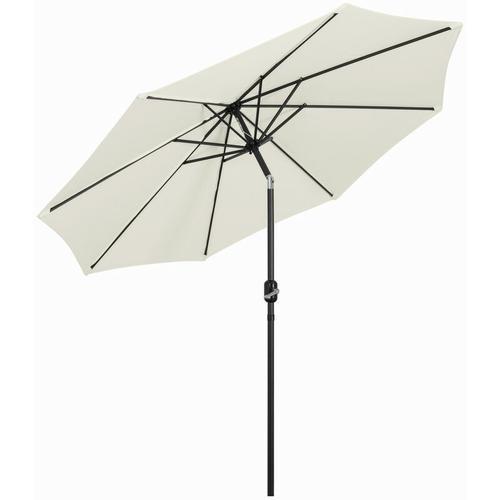 Mondeer 270cm Sonnenschirm , Kippbarer Gartenschirm, Marktschirm mit Handkurbel, UV-Schutz