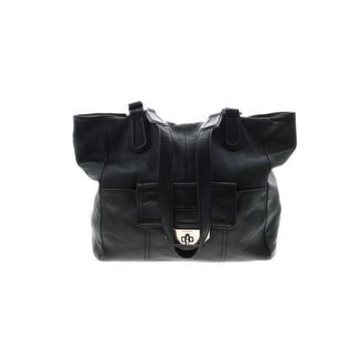 B Makowsky - B Makowsky Leather Tote Bag: Teal Solid Bags