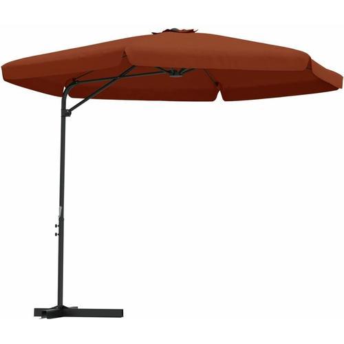 Sonnenschirm mit Stahl-Mast 300cm Terracotta-Rot