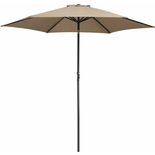 Sonnenschirm 300cm UV-Schutz 50+ wasserabweisend Kurbelsonnenschirm Gartenschirm Marktschirm taupe