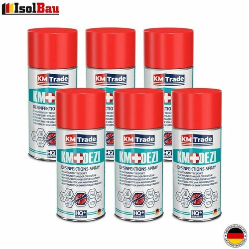 Desinfektionsmittel KM-DEZI 6 x 150ml Spray Hautdesinfektion Handdesinfektion