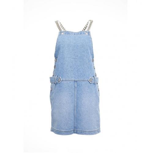Gaelle Damen Salopette-Kleid aus Jeans Blau