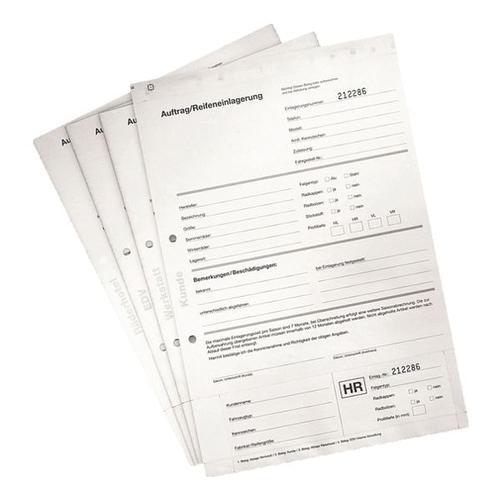 4x 25 Blatt Einlagerungsformulare für Rad- und Reifenanhänger weiß, EICHNER