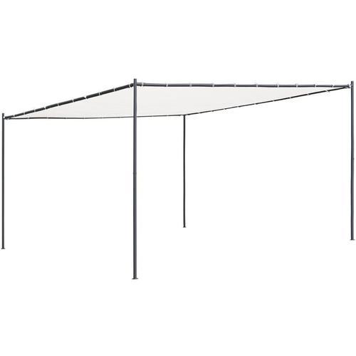 Gartenpavillon mit Flachdach 4x4x2,4 m Weiß 180 g/m2