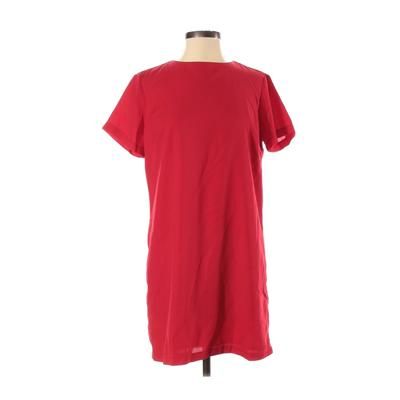 Lulu's Casual Dress - Mini: Red Solid Dresses - Used - Size Small