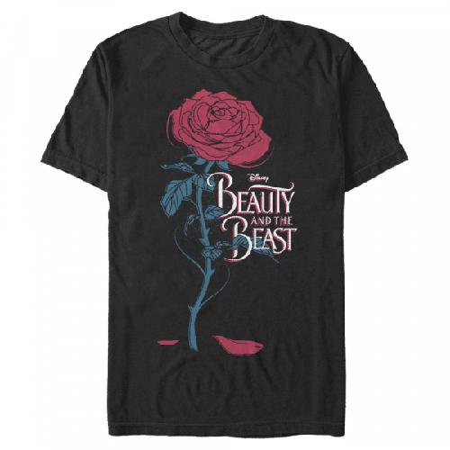 Logo Rose - Disney Die Schöne und das Biest - Männer T-Shirt