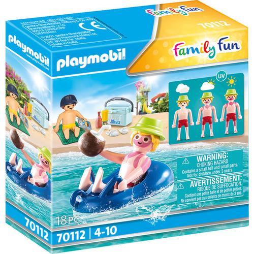 PLAYMOBIL® Family Fun 70112 Badegast mit Schwimmreifen, bunt