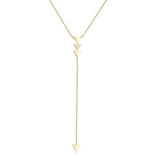 Halskette Y-Kette Dreieck Kristalle 925 Silber Elli Silber
