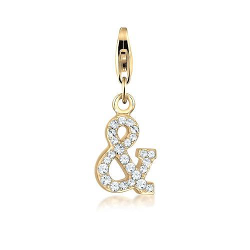 Charm Zeichen Symbol Kristalle 925 Silber Nenalina Gold