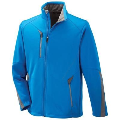 North End 88649 Men's Escape Bonded Fleece Jacket in Olympic Blue size 2XL