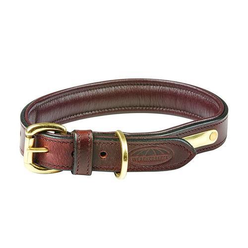 WeatherBeeta Hunde-Halsband Leder Hundehalsband Gepolstert, Textil, (1 St.) braun Hundehalsbänder Hund Tierbedarf