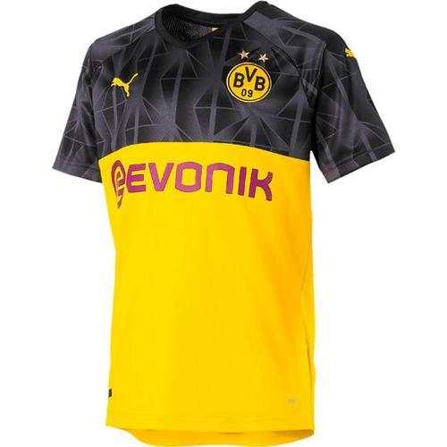 PUMA Kinder Fußballshirt BVB Cup Shirt Replica Jr with, Größe 176 in Gelb