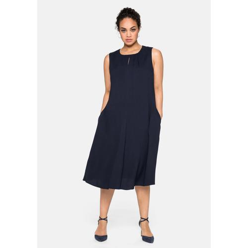 Sheego Abendkleid, mit Falten-Detail blau Damen Abendkleider Kleider Abendkleid
