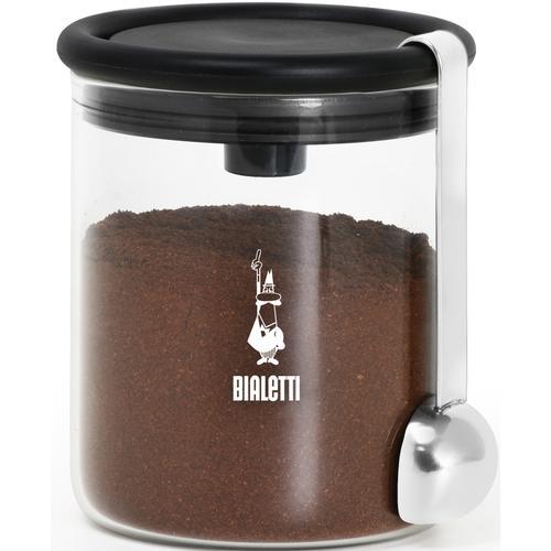 BIALETTI Kaffeedose, (2 tlg.), für Kaffee, Inhalt: 250 g schwarz Kaffeedose Zubehör Kaffeemaschinen Kaffee Espresso Haushaltsgeräte