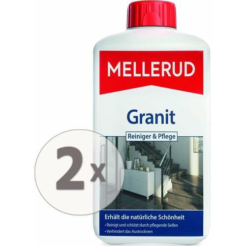 2 x 1 Liter Granitboden Reiniger und Pflege für innen & außen - Mellerud