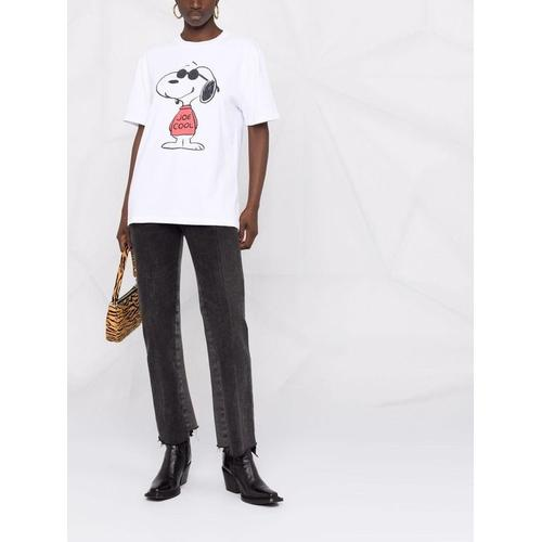 Re/done T-Shirt mit Snoopy-Print