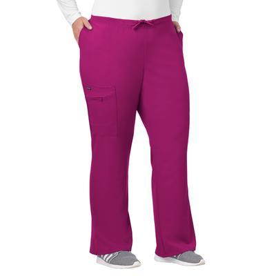 Plus Size Women's Jockey Scrubs Women's Favorite Fit Pant by Jockey Encompass Scrubs in Plum Berry (Size 2X(20W-22W))