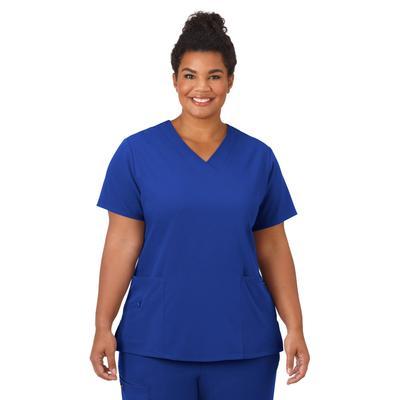 Plus Size Women's Jockey Scrubs Women's Favorite V-Neck Top by Jockey Encompass Scrubs in Royal (Size M(10-12))