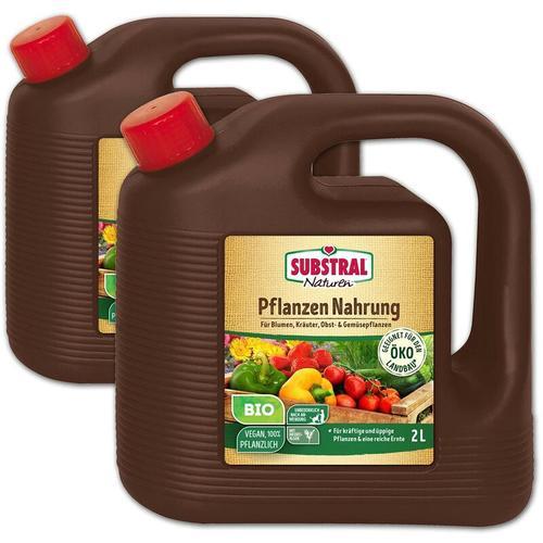 Substral Naturen Bio Pflanzen-Nahrung Pflanzendünger, 2 x 2 Liter