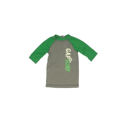 Baby Gap Rash Guard: Green Solid Sporting & Activewear - Size 12-18 Month