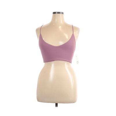 BP. Sports Bra: Purple Solid Activewear - Size X-Large