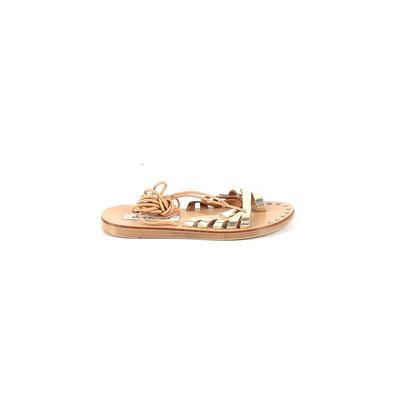 Steve Madden Sandals: Gold Solid Shoes - Size 36