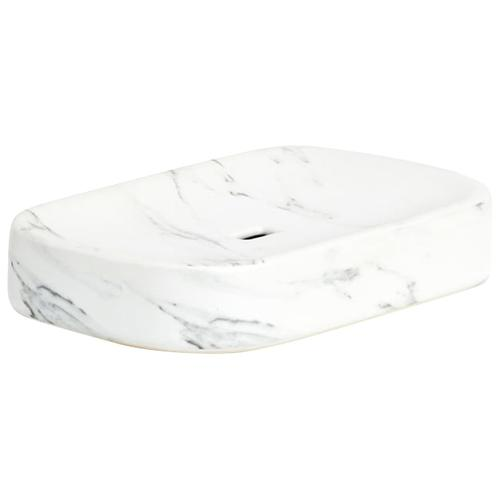 Zeller Present Seifenschale Marmor weiß Seifenschalen Badaccessoires Badmöbel