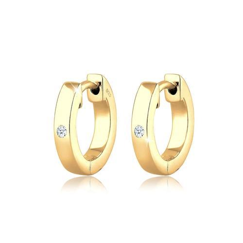 Ohrringe Creole Diamant (0.03 Ct) Geschenkidee Silber DIAMORE Gold