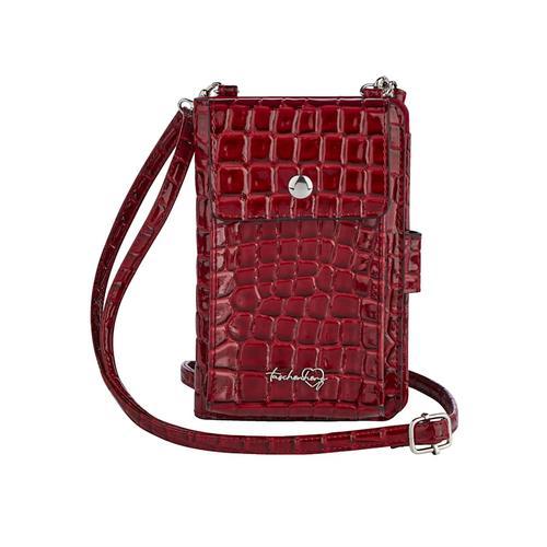 Handytasche Taschenherz rot-kroko