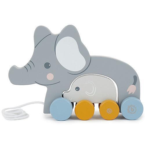Nachziehspielzeug Holz Elefant Kinder Nachziehtier Holzspielzeug ab 1J. Ziehtier Nachziehspielzeug grau