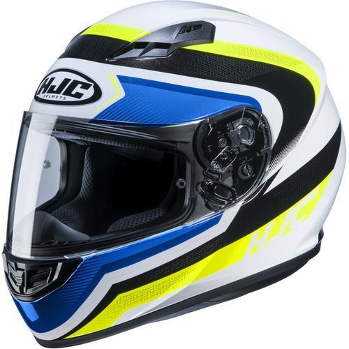 HJC CS-15 Rako Helm, weiss-blau-gelb, Größe XS