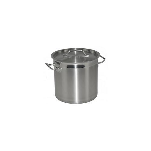 Kochtopf aus Edelstahl mit Randverstärkung und Deckel Ø25cm H25cm 12 Liter