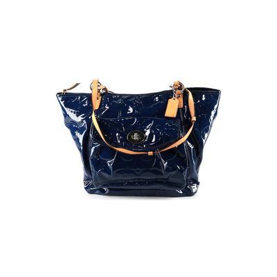 Coach - Coach Leather Tote Bag: Blue Floral Bags