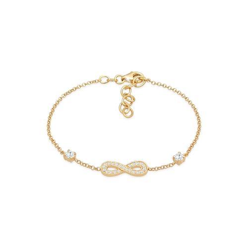Armband Infinity Unendlichkeit Zirkonia 925 Silber Nenalina Gold