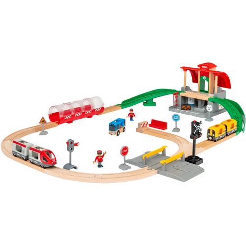 BRIO Spielzeug-Eisenbahn Großes City Bahnhof Set, mit Soundeffekten; FSC - schützt Wald weltweit bunt Kinder Kindereisenbahnen Autos, Eisenbahn Modellbau